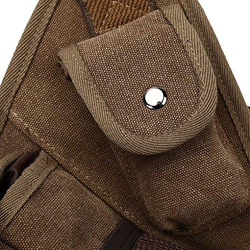 Miaomiaogo Sacchetto trasversale multifunzionale della borsa del messaggero degli uomini dell'annata delle retro della borsa del messaggero degli uomini Army Green