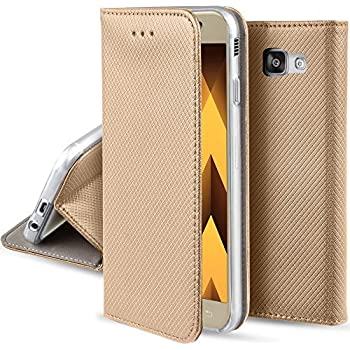 samsung galaxy a3 2017 case flip cover gold moozy. Black Bedroom Furniture Sets. Home Design Ideas