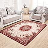 WANGS Dekorative Bereichswolldecke,European Teppich Teppich Rechteck Footcloth Simple Modern Design für Wohnzimmer Bett-E 16*50inch(80*126cm)