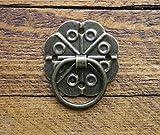 Paire de poignées de tiroir en forme de goutte orné de finition antique c/w avec cadeau offert (vis de Celtic Woods portefeuille C060 calendrier)