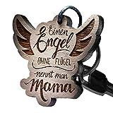 schenkYOU® Schlüsselanhänger Holz Engel Flügel - Einen Engel Ohne Flügel Nennt Man Mama!
