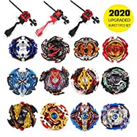 infinitoo Set of 12 Battling Top Bey Burst, Fighter Gyroscope 4D Fusion Model, Burst Evolution Combination Series 3 Throwers Set with Launcher, Best Gift for Children Kids
