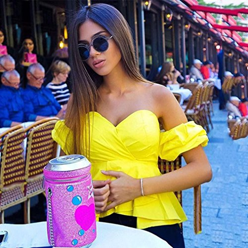 Bekleidung Longra Damen aus Schulter Ernte Tops Sommer Casual Shirts T-Shirt Bluse Yellow