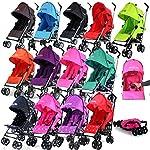 ZeTa Vooom Stroller Buggy Pushchair (Many Colours Available) Inc Raincover