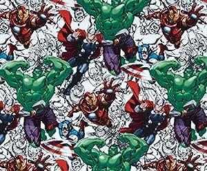 Marvel Avengers croquis de tissu format Fat Quarter en coton 52528 ressorts en tissu