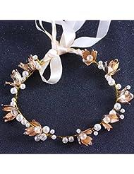 &zhou Tocado nupcial de la joyería del pelo por los accesorios 38 * 3cm del vestido de boda de la mano