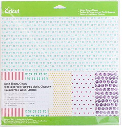Provo Craft Novelty Inc.-Washi fogli, nastri, multicolore, 30,48 x 30,48 (12-Inch) x 12 cm, confezione da 5 fogli