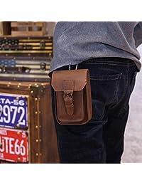 Buyworld New Men Waist Bag Crazy Horse Pu Sling Bag,5 Inch Mobile Phone Bag, Male Purse Leisure Sling Bag Small...