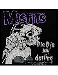 Misfits Die Die My Darling Patch Woven 10x 10cm