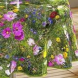 Décor Line Décor Line Feld Blumen Tischdecke, PVC, ohne, diamètre 160 cm