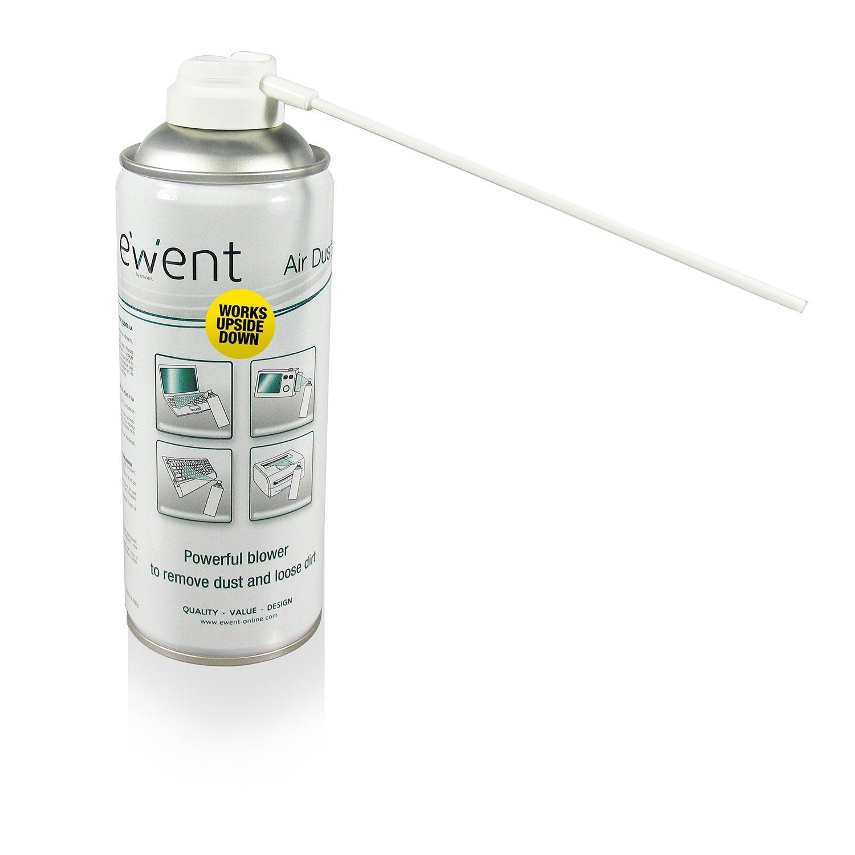 Ewent EW5600 Spray ad Aria Compressa, Bombola Capovolgibile con Cannuccia Lunga per Pulizia ed Igien