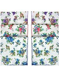Indiacrafts Queen's Collection Cotton Handkerchiefs for Women Set of 6 Piece