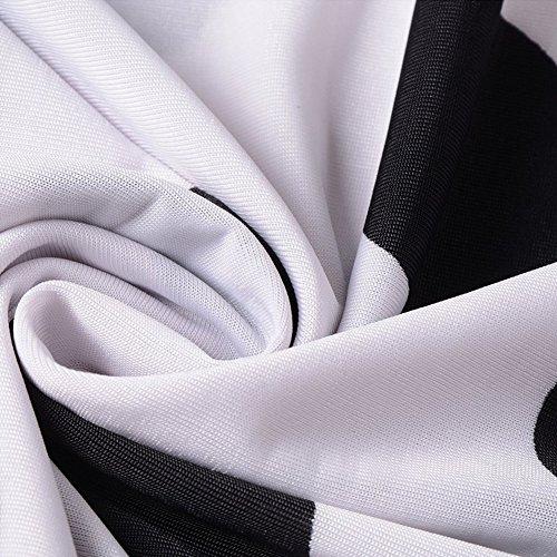 Katuo capo donna, maniche sciolte, vestito floreale misto cotone tee top White Polka Dot B-13
