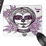 HMdy88PT Day of The Dead Decor Dia de Los Muertos Sugar Skull Girl Face with Mask...