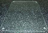Tuftop 40cm x 30cm Glasschneidebrett, durchsichtig, glatte Oberfläche