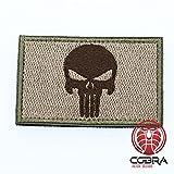 Cobra Tactical Solutions Parche Punisher Skull Hook Fastener Bordado Gancho Militar Airsoft Morale Patch