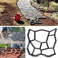 Bluelover 45cm fai da TE in plastica giardino percorso Maker stampo manualmente pavimentazione cemento mattoni pietra strada strumento ausiliario