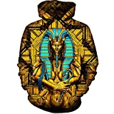 Heilige Königin Pharao Hoodies Männer Frauen Herbst Winter Sportswear Trainingsanzug 3D Kapuzenpulli 3D Hoodies L