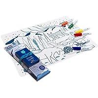 SUPER PETIT - Set De Table À Colorier - Boreal - 5 Feutres Et Bracelet Fournis - Facile à Nettoyer - Réutilisable…