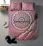 ganesham indischen Hippie Gypsy Boho Überwurf Decken, Schlafzimmer Tagesdecke/Überwurf, Spannbetttuch, indischen Mandala Tagesdecke Baumwolle Bett Bezug mit 2kissenrollen
