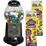 Gum Ball Maschine Kaugummiautomat 28cm groß schwarz + 2 Milchtüten Kaugummis