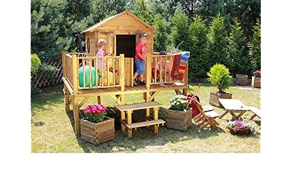 Baumotte Spielhaus Holz - Kinderspielhaus ?rotkäppchen?: Amazon.de ... Spielhaus Im Garten Kinderspielhaus Holz
