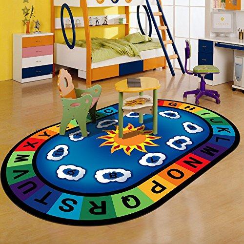 Z-LAREINA Juego Game Mat Baby Crawling Mat Antideslizante Educación Baby Crawling Carpet For Kids Room, Number,#1,80 * 120Cm