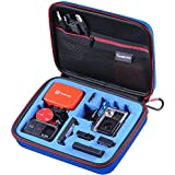 """Smatree® Talla Mediana Fundas Case para GoPRO- SmaCase G160s para Gopro® HD Hero4, 3+, 3, 2, 1 Cámaras y Accesorios Esenciales (8.6"""" x6.7"""" x2.7"""") - Estuche con alta densidad excelente corte de espuma EVA - Ideal para viaje o la casa para guardar - la protección perfecta para GoPro Videocámaras - Tapa azul con azul espuma Interior"""