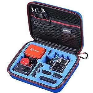 Smatree Smacase G160S Custodia per GoPro 5,4,3,3+,2,1-Blu&Blu(Fotocamera e Accessori non inclusi)