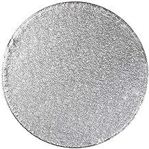 Tala - Base redonda para tartas, color plateado, Plateado, 0,20 m