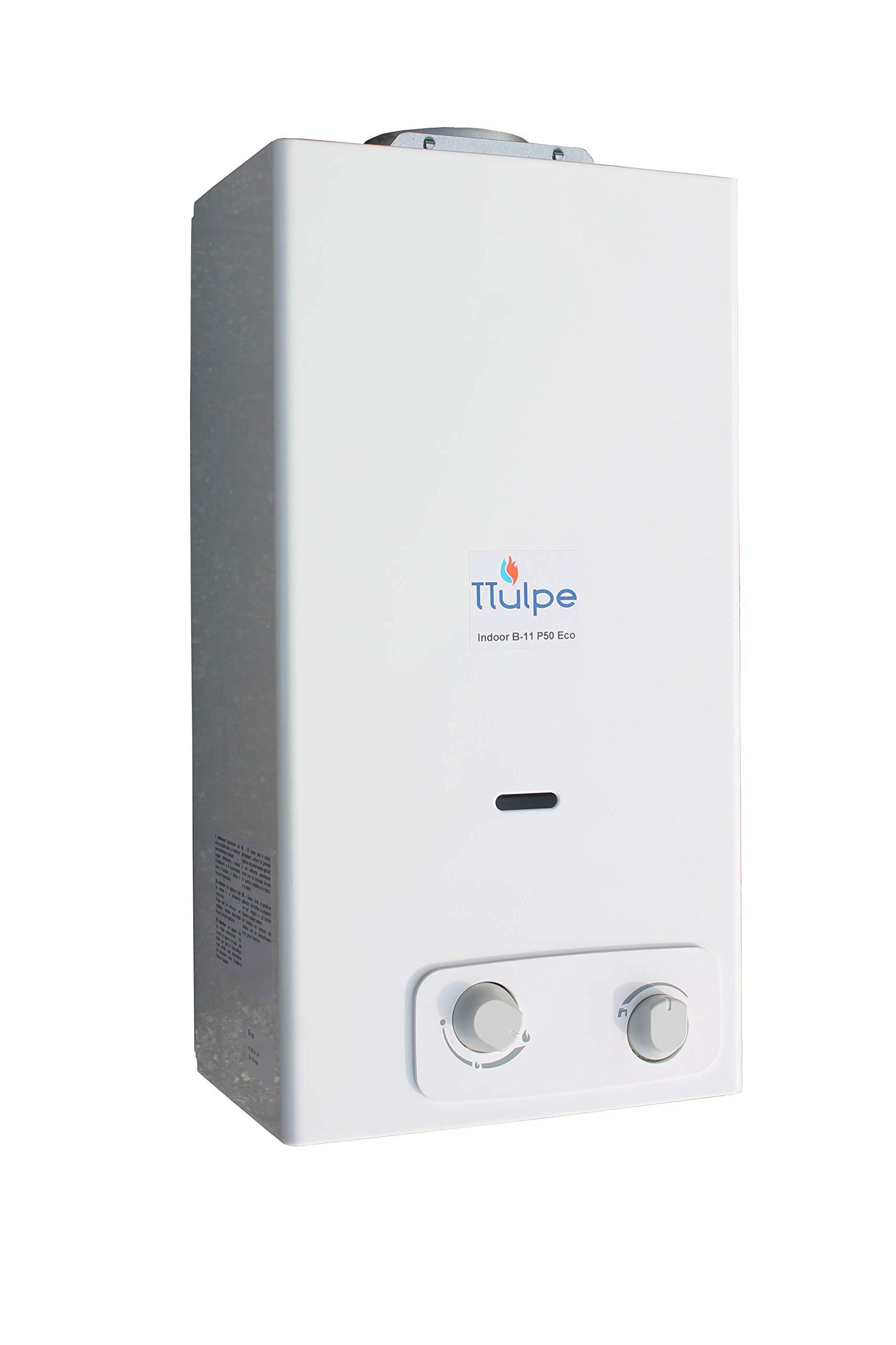 TTulpe Propangas-Durchlauferhitzer TTIB1137 Indoor B11 P37 Eco 1.5V Blanco calentador a gas propano, 1.5 V