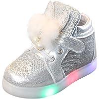 FRAUIT Scarpe Bambina Con Luci Invernali Sneaker Bimba Scarpine Antiscivolo Pelle Scarpette Stivaletti Bambino Eleganti…