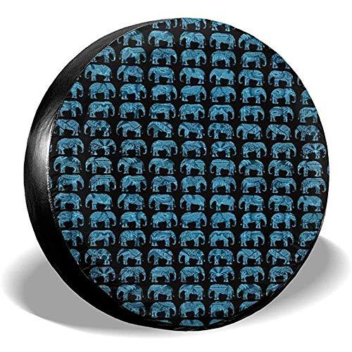 Drew Tours Copricerchi per Ruote per Elefanti Indiani Cultura PVC Poliestere Universale per rimorchio RV SUV Camion Prevenzione della corrosione 16 Po