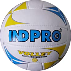 Indpro Unisex Volleyball 4 Blue Yellow White
