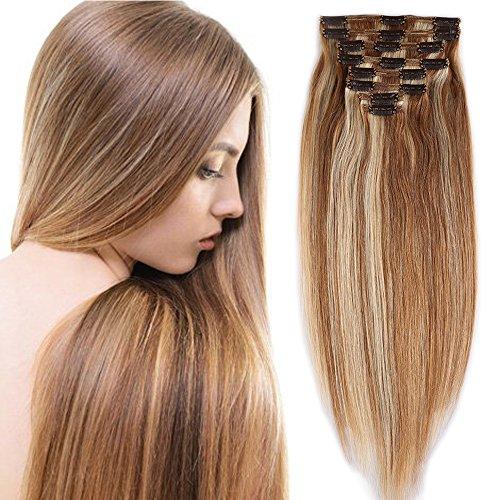 Extensions cheveux clips naturels