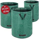 3er Set Laubsack Gartenabfallsack Garten 840L (3x 280 Liter) | 3 Tragegriffe | doppelte Nähte | bis...