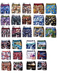 FREEGUN LOT SURPRISE DE 9 BOXERS HOMME 9 MOTIFS DIFFERENTS SELON ARRIVAGE TAILLE M