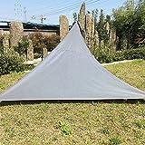 gaeruite Sonnensegel für Garten,Dreieckig Sonnenschutz Baldachin, Garten Patio Pool Shade Segel Markise Outdoor Camping PicknickTent (C:3 x 3m, Gray)