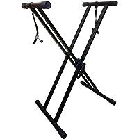 RockJam xfinity doppelstrebiger pre hochparametrierbares Keyboard-Ständer mit Verriegelungslaschen zusammengebaut