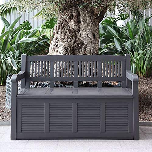 2- Sitzer Gartenbank mit Aufbewahrungsbox Truhe Kissen Auflagen Garten Terrasse - 3