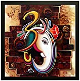 #9: PPD 'Ganesha' Framed Painting (Wood, 30 cm x 3 cm x 30 cm)