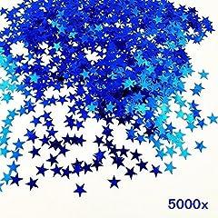 Idea Regalo - JZK® 5000 pz 1cm scintillante plastica coriandoli stelle blu stelline decorazione tavolo festa per matrimonio compleanno Natale battesimo addio al nubilato