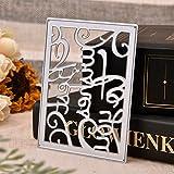 Ustensiles de Cuisine WINWINTOM Gaufrage Dossier Grande Fleur Coeur Papier Artisanat Supply DIY Pochoirs...
