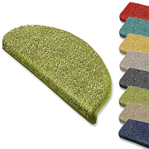 Hochflor-Stufenmatte Bali   Halbrund oder eckig   12 Farben Stufenmatten Produziert in Deutschland (halbrund, grün)