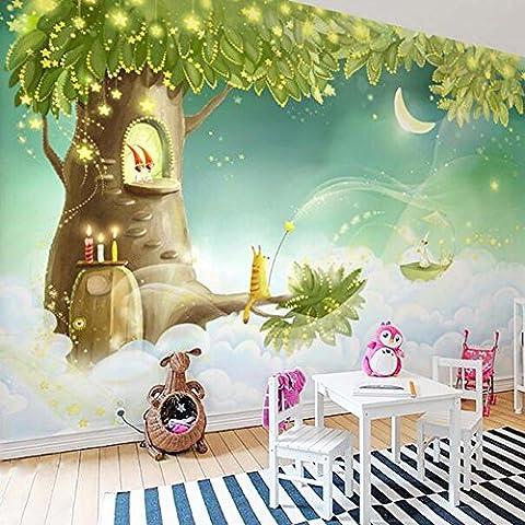 Chambre des enfants Princesse Maison Peint à la main Salle des enfants Chambre de la princesse papier peint murale , 200x140 cm