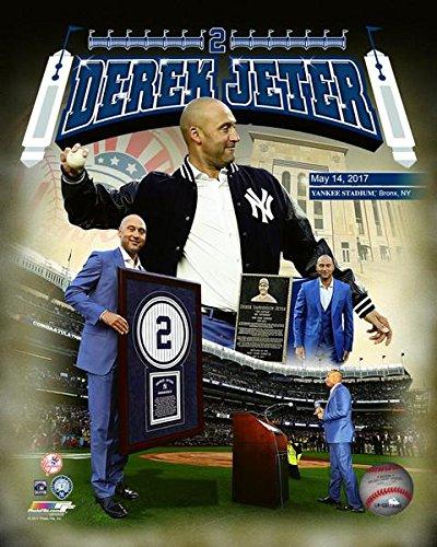 Derek Jeter Jersey Retirement Composite Photo Print (20,32 x 25,40 cm) -