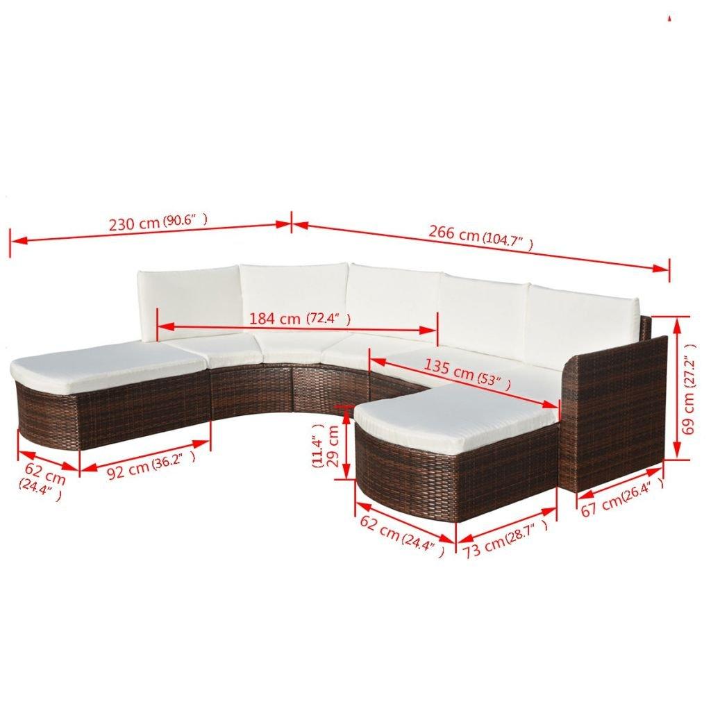 Festnight Rattan Lounge Set Loungemöbel Loungeset Loungegruppe 16