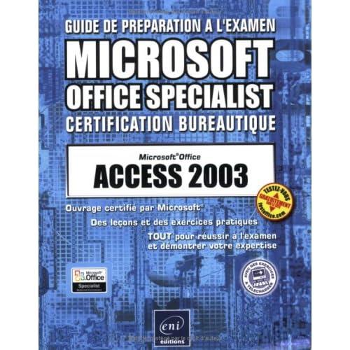 Guide préparation à l'examen : Access 2003