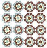 Aufkleber Autoaufkleber Fliesenaufkleber Fahrradaufkleber Blumen ähnlich Prilblumen Retroblume 16 x 3cm