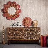 Native Home Sideboard Schubladen, mit Muster, Modern, Massiv, Mangoholz, Kommode, HxBxT: 78 x 147 x 48 cm, Braun